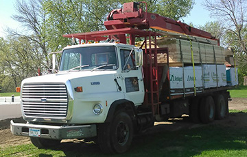 Long Prairie Lumber Material Delivery Truck