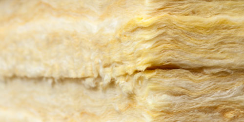 Yellow batte insulation